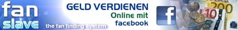 Werbebanner Fanslave.com Mit Facebook Geld verdienen